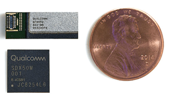 写真1 Qualcomm Delivers Breakthrough 5G NR mmWave and Sub-6 GHz RF Modules for Mobile Devices