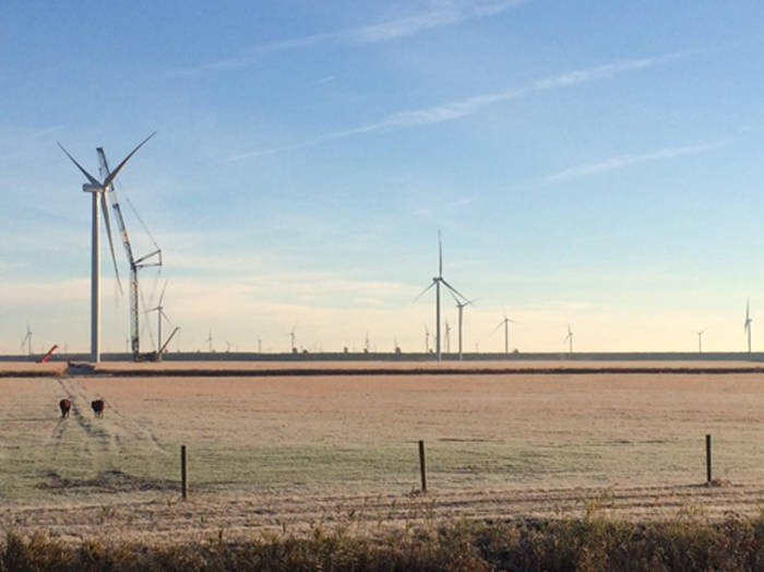 図 Amazon Web Servicesの「Amazon Wind Farm US East」。合計出力は208MWだ