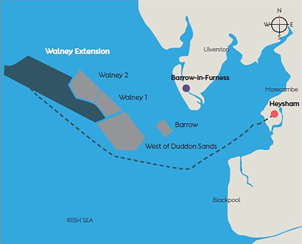 図 「Walney Extension Offshore Wind Farm」の位置